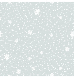 Seamless Snowfall Pattern vector image