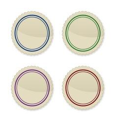 Set of vintage circle stamps vector image