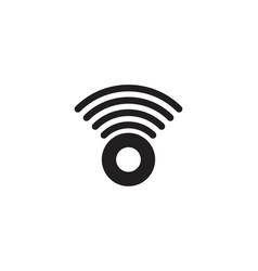 Signal wifi radar logo designs inspiration vector