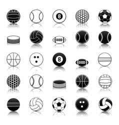 Sport balls icons pack vector