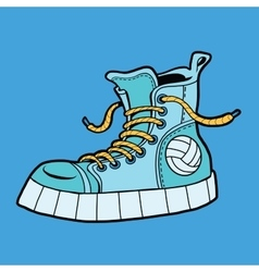 sports shoes with ball sneakers vector image