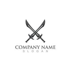 Sword logo and symbol vector