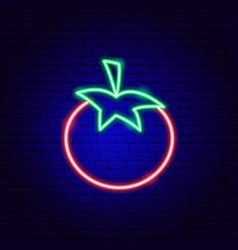 Tomato neon sign vector