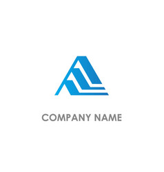 triangle shape line business logo vector image