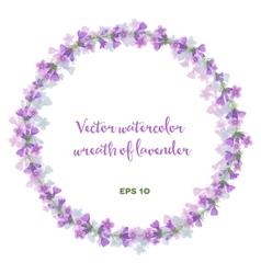 watercolor wreath lavender vector image