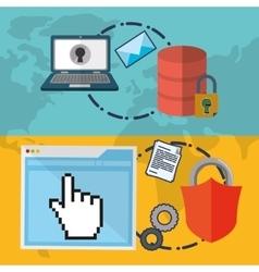 Web hosting laptop design vector