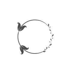wreaths for design logo template vector image