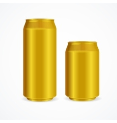 Yellow aluminium cans vector