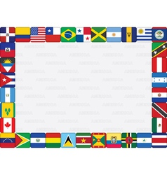 American countries flag frame vector image vector image