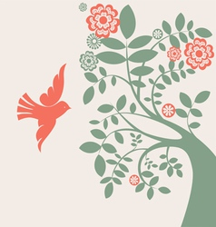 dove and tree vector image vector image