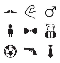 Gentleman icons symbol set vector