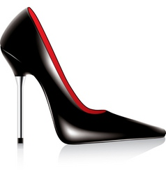 high heel shoe vector image vector image