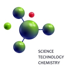 Molecule Science technology chemistry vector image vector image
