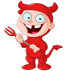 devil kid vector image vector image