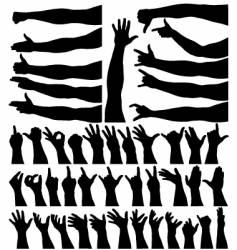 hands and arms vector image vector image