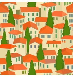 seamless old town vector image