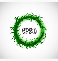 big green grunge circle with place for your text vector image vector image