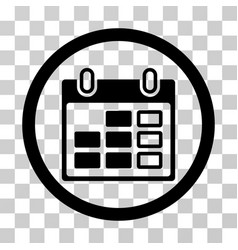 calendar week rounded icon vector image vector image