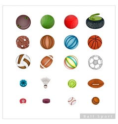 Collection of Sport Items on White Background vector image vector image