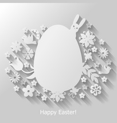 easter egg mix vector image