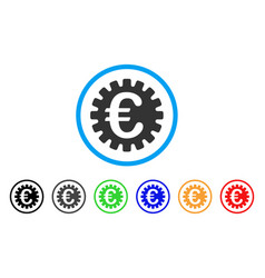 euro cog rounded icon vector image vector image