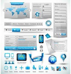 Premium templates and Web stuffs vector image