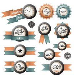 Retro labels and ribbons vector image