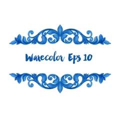 watercolor vintage elements vector image vector image
