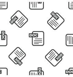 DOC file pattern vector image vector image