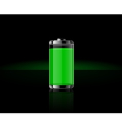 Glossy transparent battery icons vector image