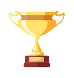 gold award in form of goblet on small stand vector image