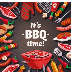 Grill BBQ Time Background vector image