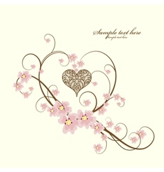 Ornamental frame heart with place for your text vector image