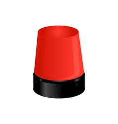 Red police light vector image