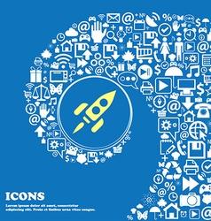 Rocket sign symbol Nice set of beautiful icons vector image