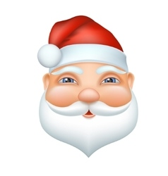 Santa claus cheerful face vector image