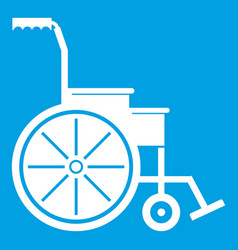 wheelchair icon white vector image