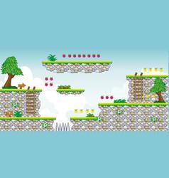 2d tileset platform game 19 vector