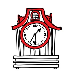A view of wall clock vector
