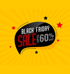 Abstract black friday sale chat bubble poster vector