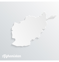 Abstract icon map of Afghanistan vector image