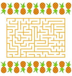 Abstract simple rectangular isolated labyrinth vector