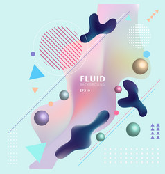 abstract template colorful fluid shapes vector image