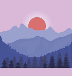andscape in the night design vector image