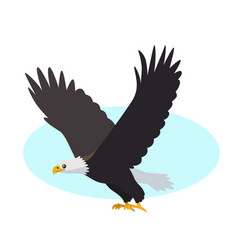 Bald eagle icon isolated on white background vector