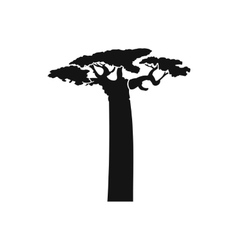 Baobab tree icon simple style vector