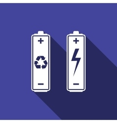 Battery with recycle - renewable energy concept vector image