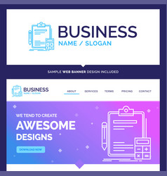 Beautiful business concept brand name accounting vector