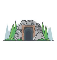 bitcoin mine vector image