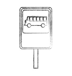 Bus stop sign isolated icon vector